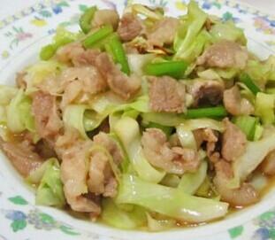 肉末圆白菜